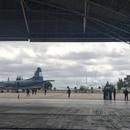 Aviones de la Armada se disponen a participar de la búsqueda en el aeropuerto de Trelew