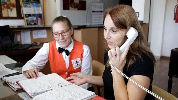 Sonia Genesio, de 39 años, trabaja como recepcionista