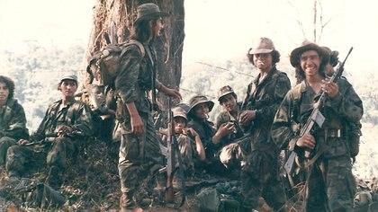 Miembros de los Contras nicaragüenses en 1987
