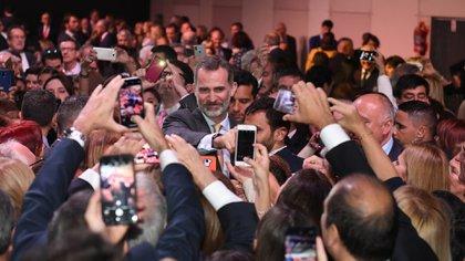 El rey de España, en un evento que tuvo lugar en La Rural (Maximiliano Luna)