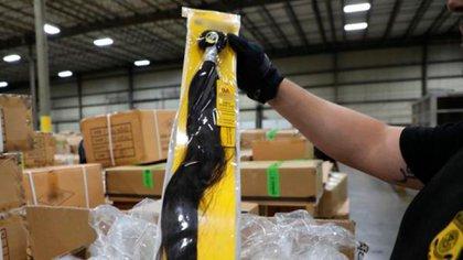 Una muestra del producto importado desde Xinjiang (CBP/ @DFONewYork)