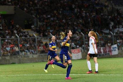 Clarisa Huber celebra su conquista (Foto: Santiago Joel Abdala - Prensa Boca Juniors)
