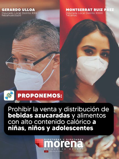 Morena en el Edomex propuso regular el acceso de comida chatarra a menores de edad (Foto: Twitter / @GPMorenaEdomex)