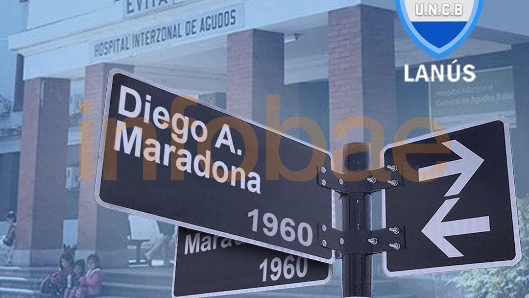 Calle Diego A. Maradona (Unión de Clubes de Lanús)