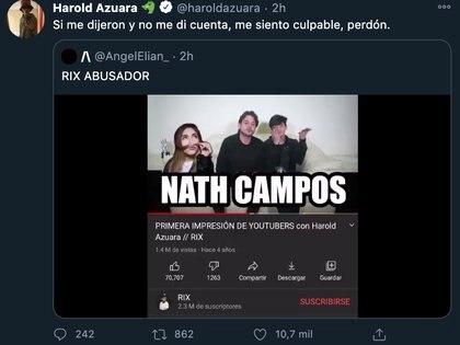El actor señaló sentirse culpable por haber participado en el video (Foto: Twitter@haroldazuara)