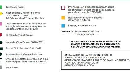Calendario escolar 2020-2021 regreso a clases (Foto: SEP)