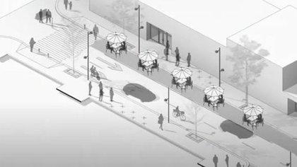 Restaurantes podrán dar servicio en espacios abiertos con mesas a distancia.  (Gobierno de la CDMX)