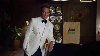 Luis Miguel apareció recientemente en un comercial de Uber Eats y causó polémica por su aspecto (Foto: Captura de pantalla)
