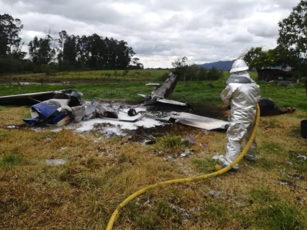 Accidente en cercanías al aeropuerto de Guaymaral, al norte de Bogotá.