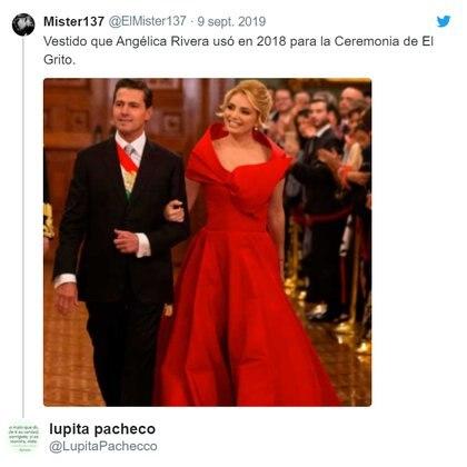 La última vez que Angélica Rivera estaría en el Palco del Palacio Nacional (Foto: Twitter)