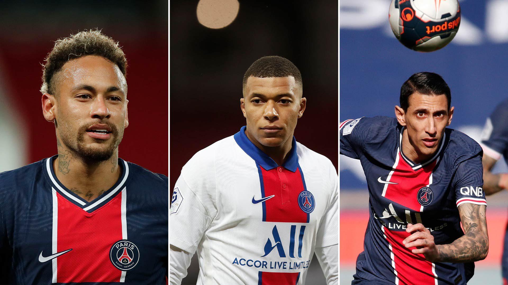 Fichajes más caros PSG Neymar Mbappe Di Maria