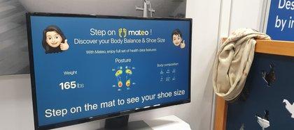 Mateo integra sensores que pueden identificar el peso y postura del usuario.