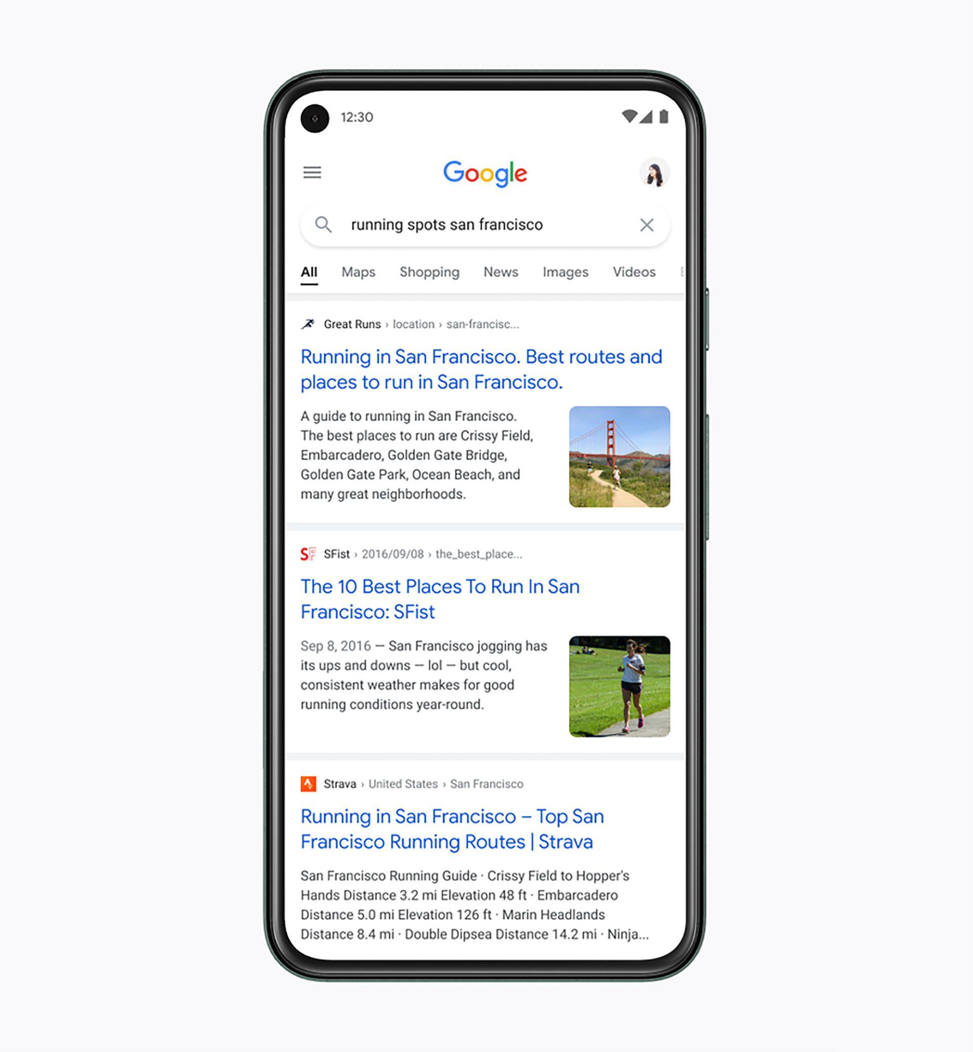 Google renovó el diseño de su buscador para móviles