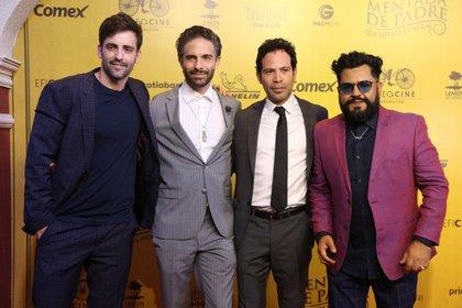 Antonio Gaona, Osvaldo Benavides, Mauricio Isaac y Mauricio Barrientos
