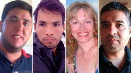 Julián Elías, Marcelo Barrionuevo, Gabriela Juárez y Humberto Barrionuevo fallecieron en el trágico accidente de Tucumán