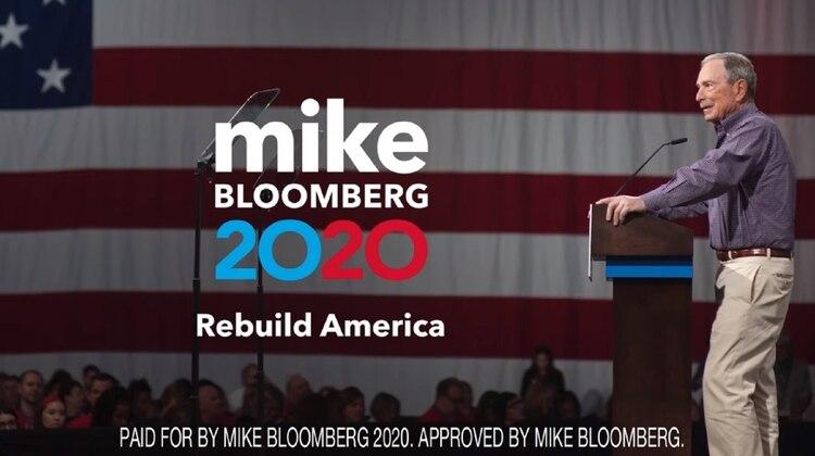 Captura del anuncio divulgado por el candidato