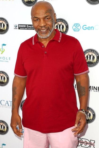 Mike Tyson se presentó como espectador en un torneo de golf en California(Getty/ AFP)