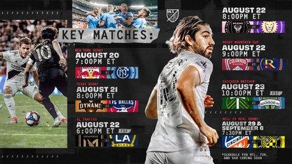 Parte del calendario de la tercera jornada (Foto: Twitter/MLS)