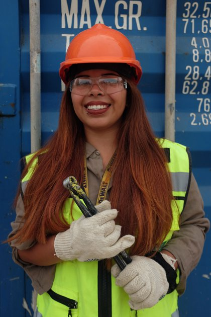 Daiana Medina, gestionatemas de seguridad e higiene en el Viaducto San Martín (Foto: Fundación Foro del Sur, Sofía Suaya)