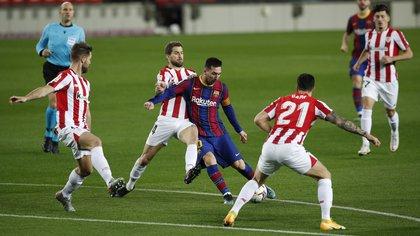 El Barcelona de Messi busca un nuevo trofeo al medirse al Athletic de Bilbao en la final de la Copa del Rey: hora, TV y formaciones
