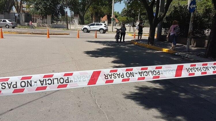 La zona donde mataron al motochorro (foto: Leonardo Guevara)