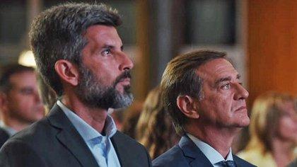 Ulpiano Suárez (izquierda) recibió las amenazas apenas un día después de un desalojo de trabajadores municipales en la peatonal Sarmiento