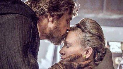 "Mark Hamill y su último beso a Carrie Fisher en ""Star Wars: The Last Jedi"""
