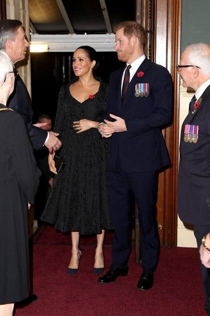 Los duques de Sussex antes de entrar al palco real (Foto: Chris Jackson/AFP)