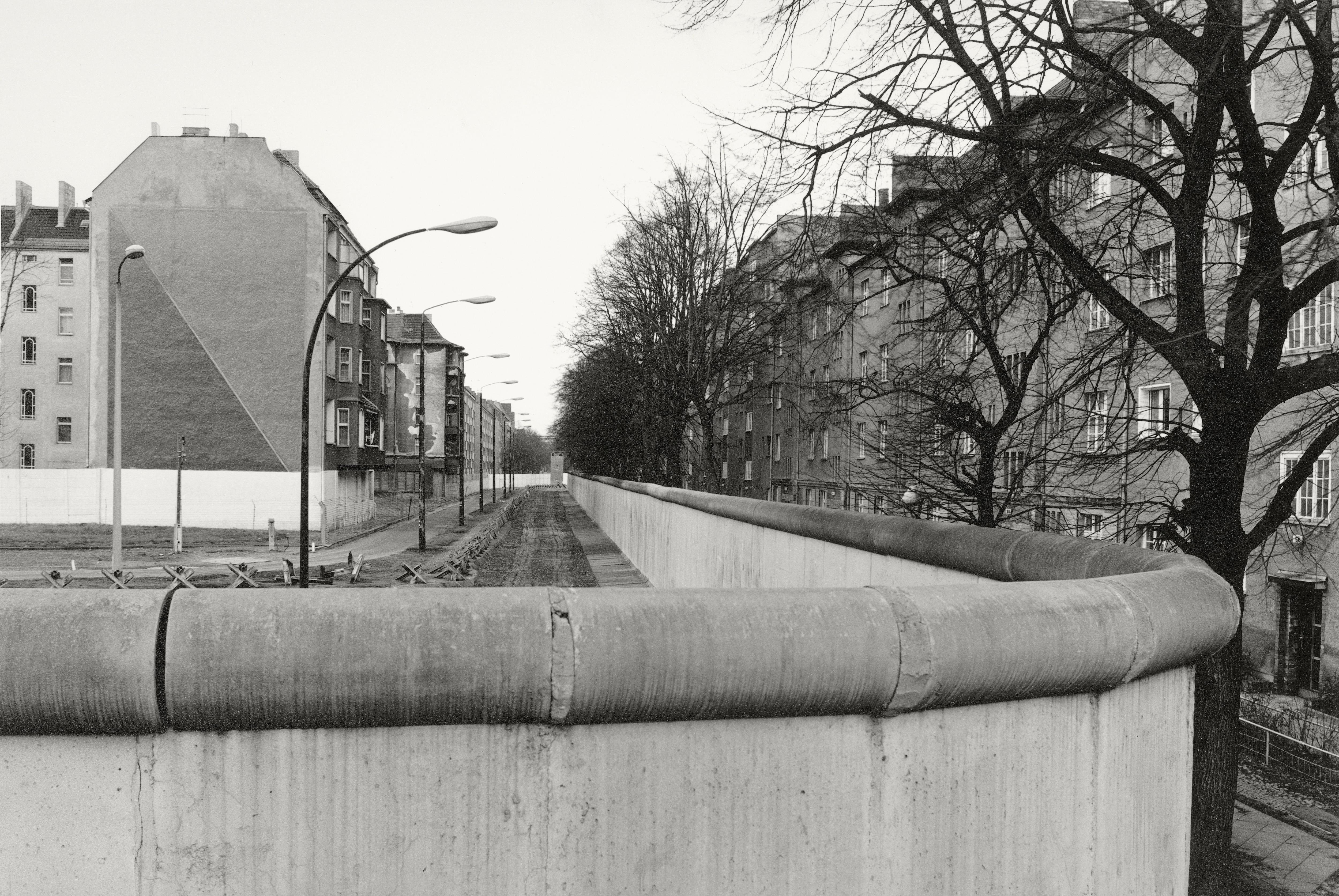 Una vista del muro en 1985