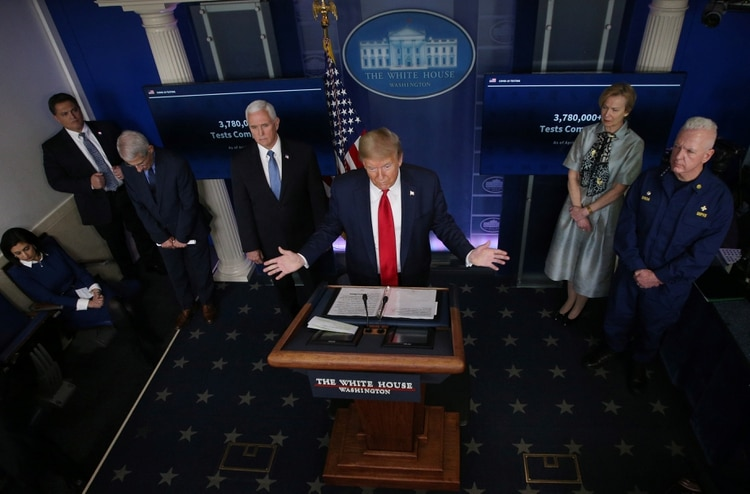 El grupo de tareas contra el coronavirus de la Casa Blanca