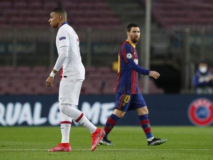 Messi vs Mbappé, la gran atracción del duelo entre Barcelona y PSG (REUTERS/Albert Gea)