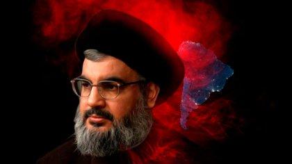 Hassan Nasrallah, el jefe del grupo terrorista Hezbollah. Las operaciones de la organización en América Latina están facilitadas por la dictadura de Nicolás Maduro yuna creciente presencia en la Triple Frontera