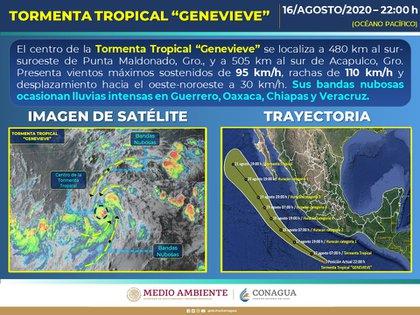 Este fenómeno ocasionará descargas eléctricas, posibles granizadas y fuertes rachas de viento en las zonas de tormenta (Foto: SMN)