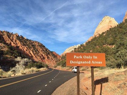 Imagen del Parque Nacional Zion, en Utah (Foto: Twitter Zion National Park @ZionNPS)