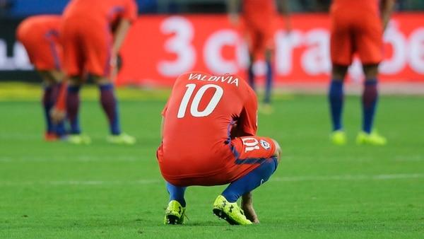 Los jugadores frustrados tras caer ante Brasil por 3-0