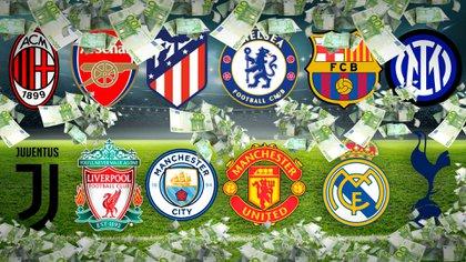 La impactante fortuna que ganarán los clubes de la Superliga europea: la comparación con los premios de la Champions League