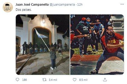 Campanella también se hizo eco de las protestas en la Quinta de Olivos (Twitter)