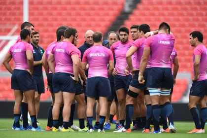 Rugby Union - Rugby World Cup - Argentinas Captain's Run - Hanazono Rugby Stadium in Osaka, Japan, September 27, 2019. Argentina players.    REUTERS/Annegret Hilse