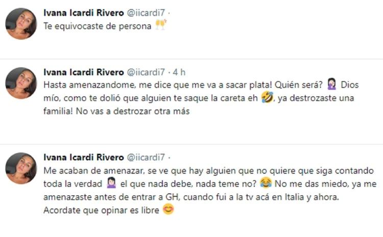 Los mensajes que escribió la hermana de Mauro Icardi contra su cuñada