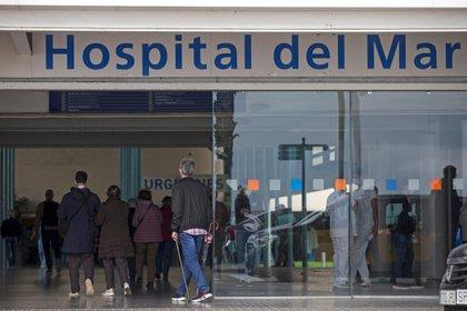Entrada del Hospital del Mar en Barcelona (España). EFE/Quique García/Archivo