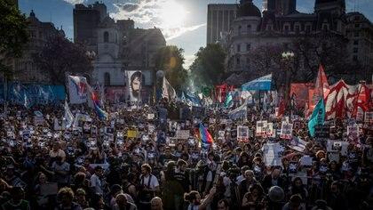 Marcha por Santiago Maldonado en Plaza de Mayo, 1 de noviembre de 2017 (Martín Rosenzveig)