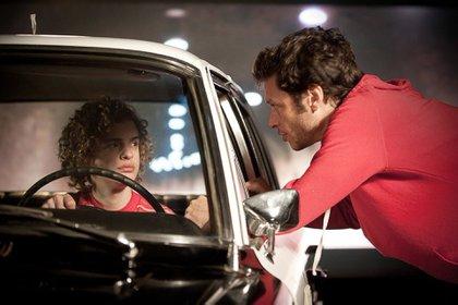 Luis Ortega con Lorenzo Ferro, en el rodaje de El Ángel