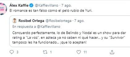 Alex Kaffie se pronunció sobre el noviazgo (Foto: captura de Twitter)