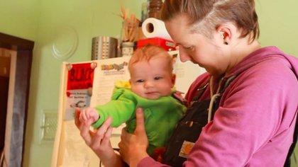Storm cuando era bebelle, en 2011, y su caso se conoció en el mundo.