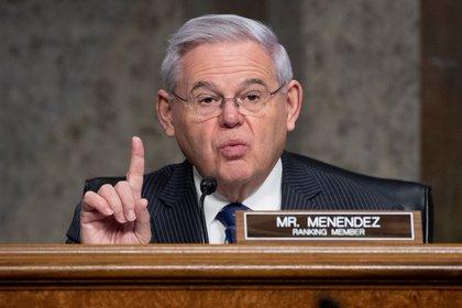 Bob Menéndez, presidente del Comité de Relaciones Exteriores del Senado. EFE/EPA/MICHAEL REYNOLDS