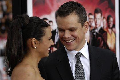 """Matt Damon y su esposa Luciana Barroso en 2007: """"Cuando la vi fue como si un rayo me fulminara"""" (Foto: AP)"""