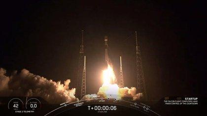 El despegue del cohete (Twitter SpaceX)