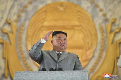 Una foto publicada por la Agencia Central de Noticias de Corea del Norte (KCNA) muestra al dictador norcoreano Kim Jong-un (EFE)