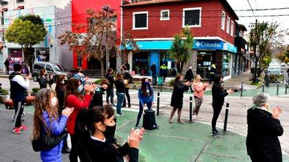 En Mar del Plata, comerciantes se manifestaron exigiendo la reapertura de locales (Gentileza La Capital)