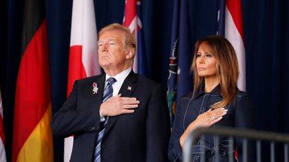 El presidente de EEUU, Donald Trump, y la primera dama, Melania Trump (REUTERS / Kevin Lamarque)